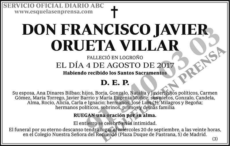 Francisco Javier Orueta Villar
